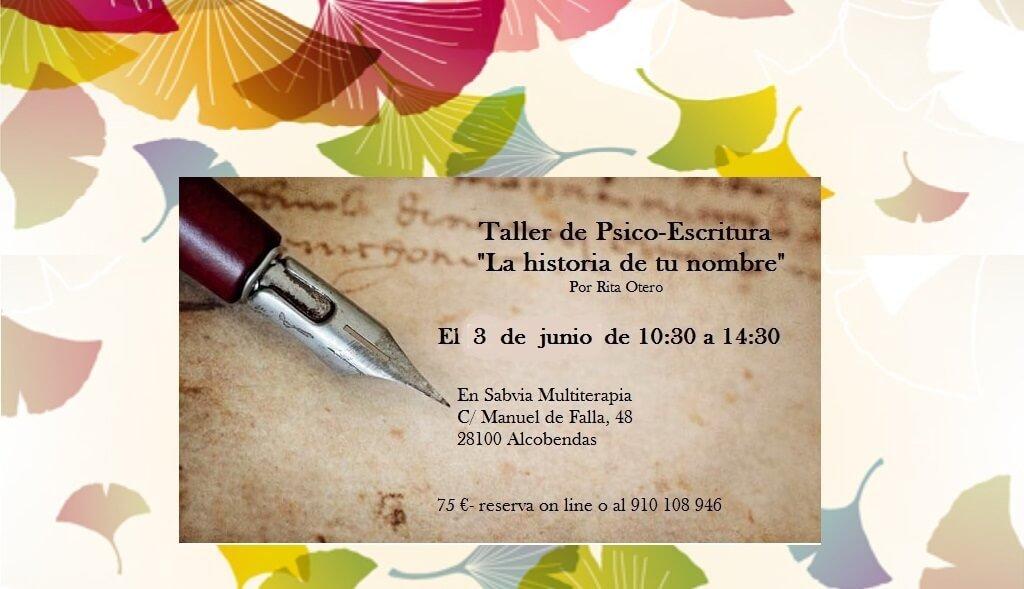 Taller Escritura Rita Otero 3 junio - Cátedra Abierta de Psicología y Neurociencias