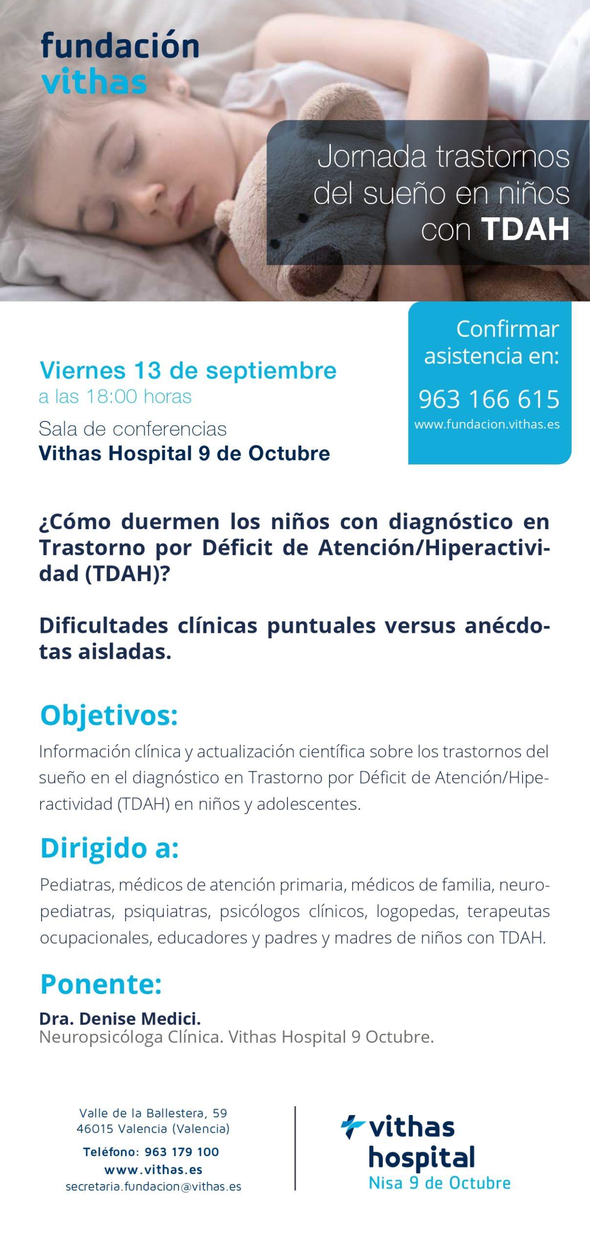 Conferencia SUEÑO TDAH Dra Medici